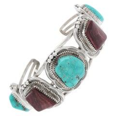 Kay Yazzie Sterling Cuff Bracelet