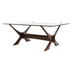 Kayser Schriever Smoked Glass and Oak Coffee Table