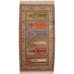 Kayseri Turkish Silk Rug Prayer Mat Runner