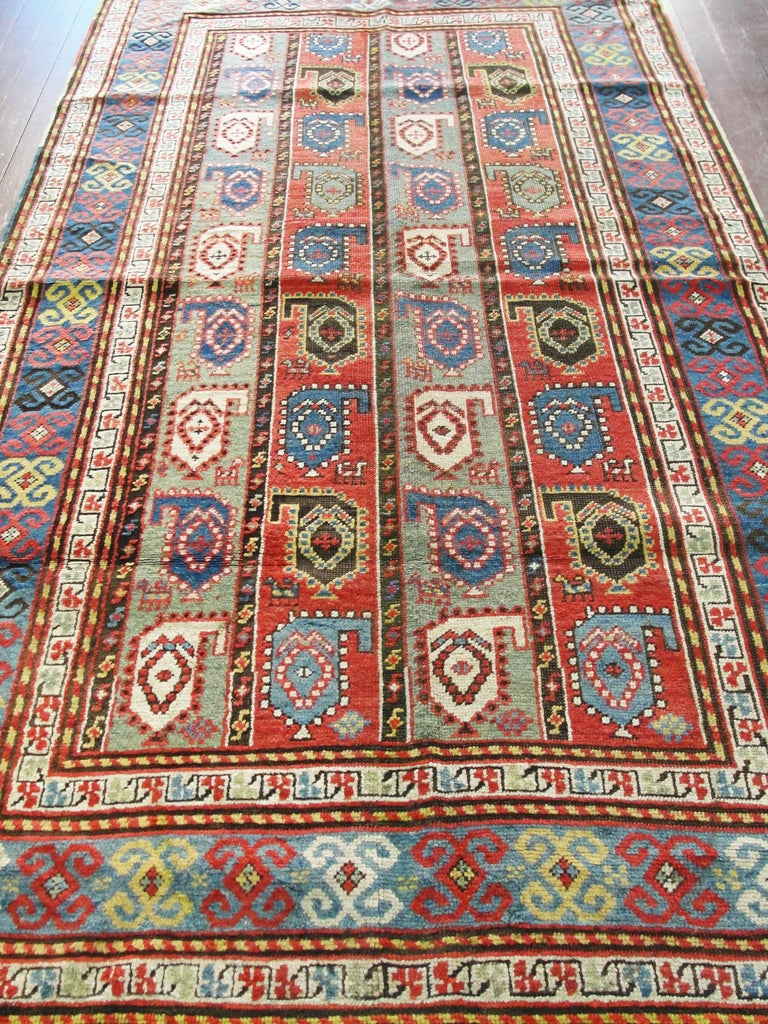Kazak Antique Caucasian Rug 4