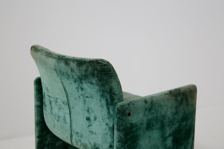 Kazuhide Takahama Set of 10 Chairs Green Mod. Montebello Production Gavina 1980s For Sale 5