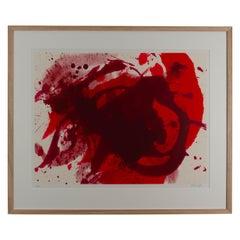 "Kazuo Shiraga - ""Passionate Winner"", 1988 - silkscreen, framed"