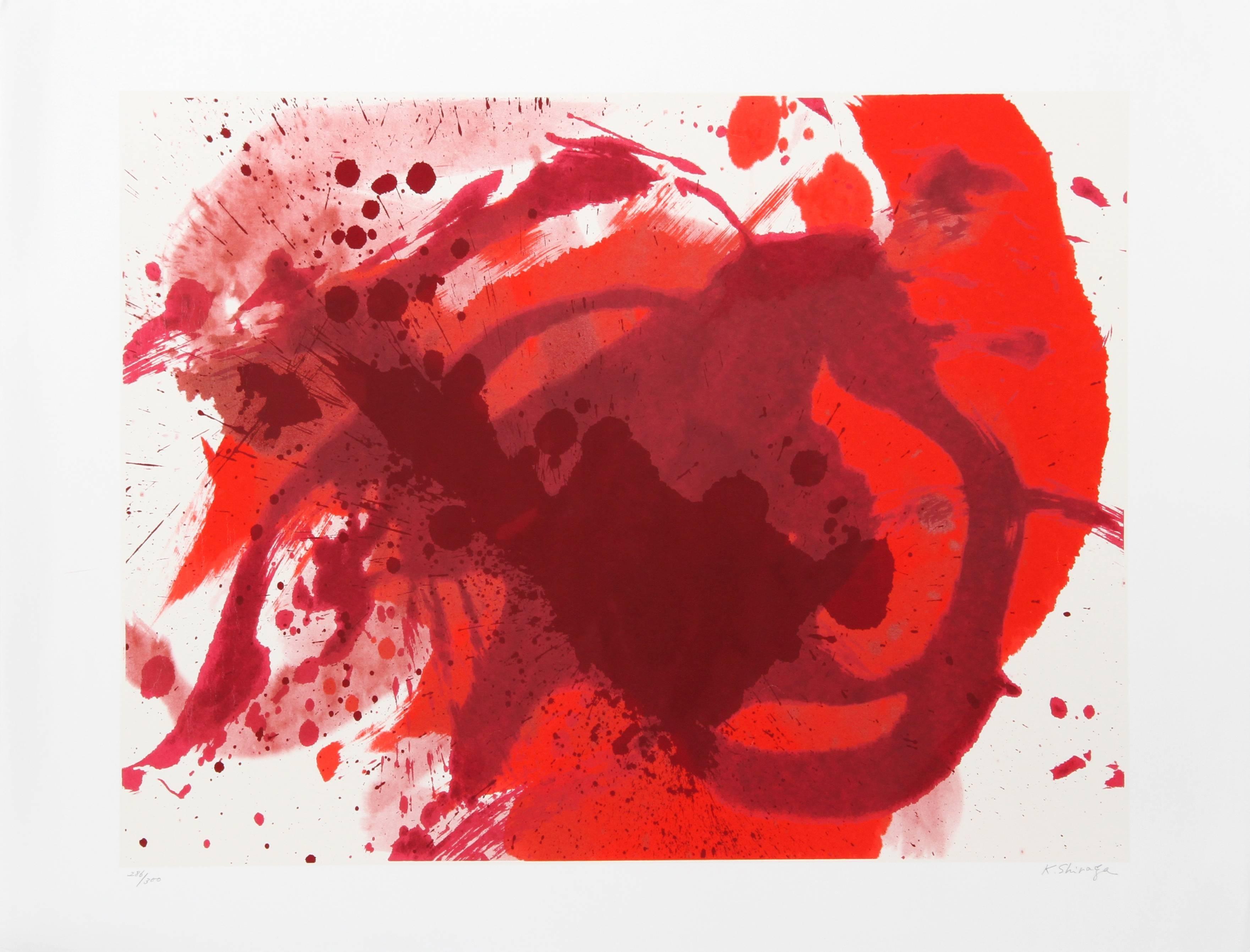 Passionate Winner, Colorful Abstract Silkscreen by Shiraga