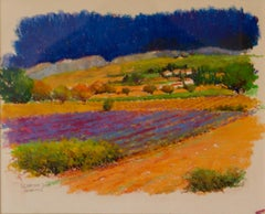 Provence South of France - Early 21st Century Landscape Oil Pastel by Hancock