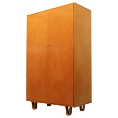 KB03 Birch Series Cabinet by Cees Braakman for UMS Pastoe, 1950s Yellow Blonde