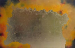Nuits de Chine, pastel & gold leaf painting, abstract landscape