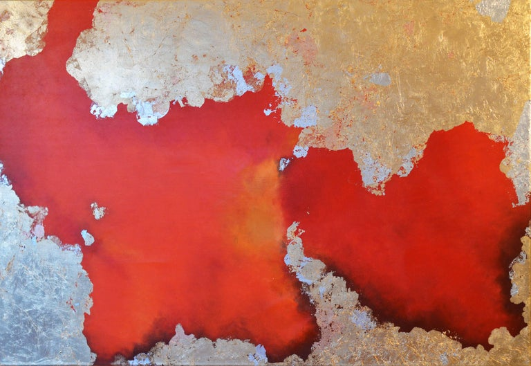 Hic Sunt Leones - Abstract Painting by KC PAILLARD
