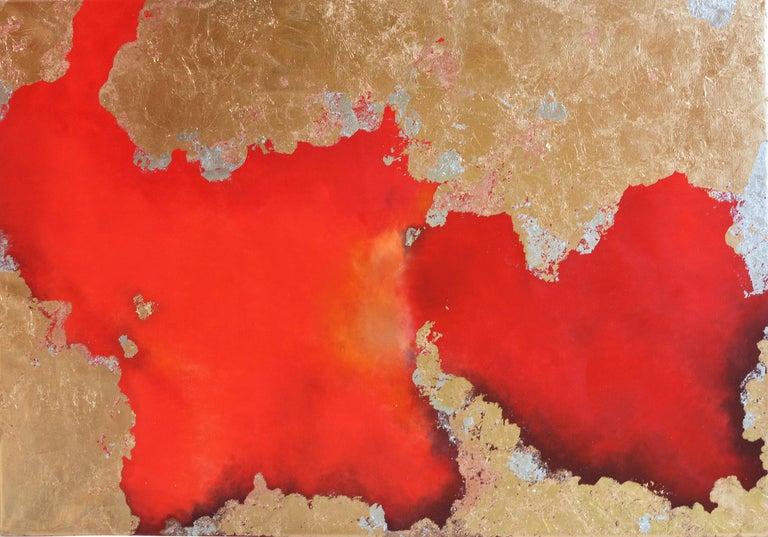 KC PAILLARD Abstract Painting - Hic Sunt Leones