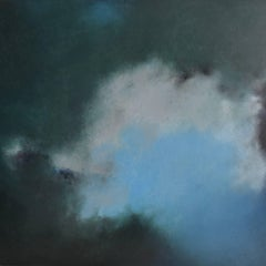Virga, Abstract Green Softcolored Pigments on canvas