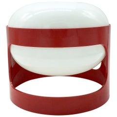 """KD27"" Joe Colombo by Kartell 1960s Italian Design Red Table Lamp"