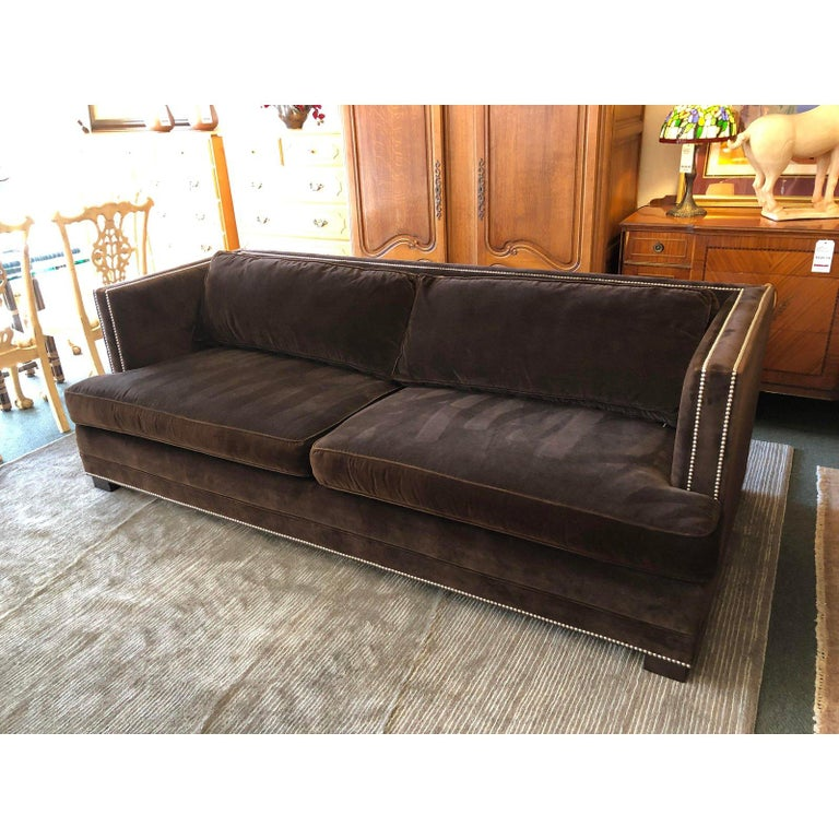 Keaton Velvet Sofa By Mitchell Gold For Sale At 1stdibs