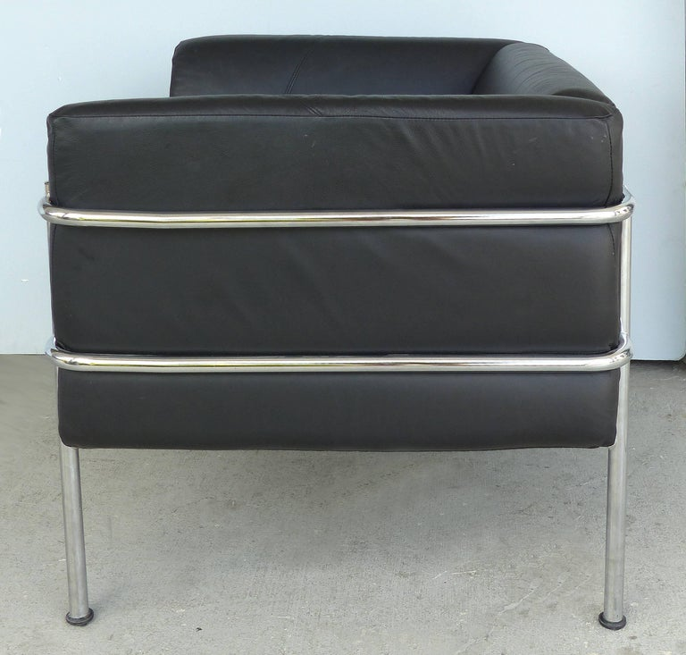 Kebe Of Denmark Leather And Chrome Club Chair After