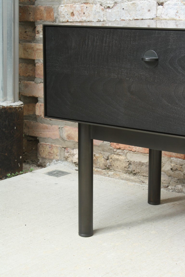 Kedzie A Customizable Handmade Metal Side Cabinet or Nightstand by Laylo Studio In New Condition For Sale In Chicago, IL