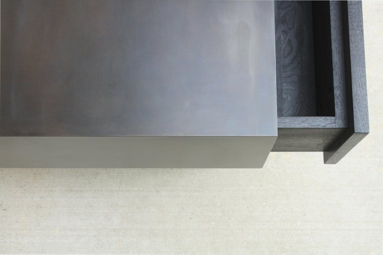 Steel Kedzie A Customizable Handmade Metal Side Cabinet or Nightstand by Laylo Studio For Sale