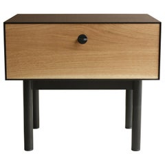 Kedzie A Customizable Handmade Metal Side Cabinet or Nightstand by Laylo Studio