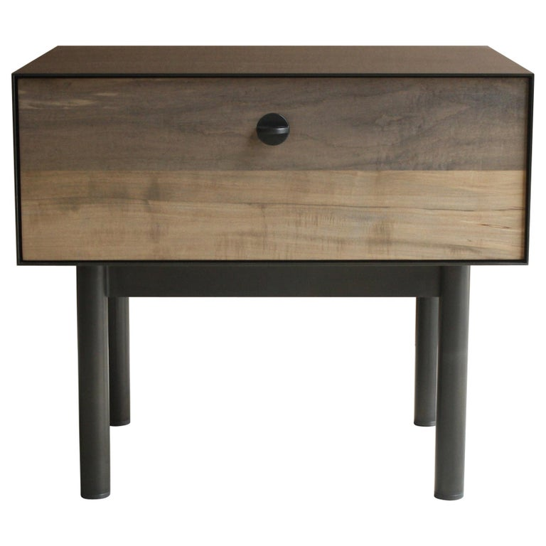 Kedzie A Customizable Handmade Metal Side Cabinet or Nightstand by Laylo Studio For Sale