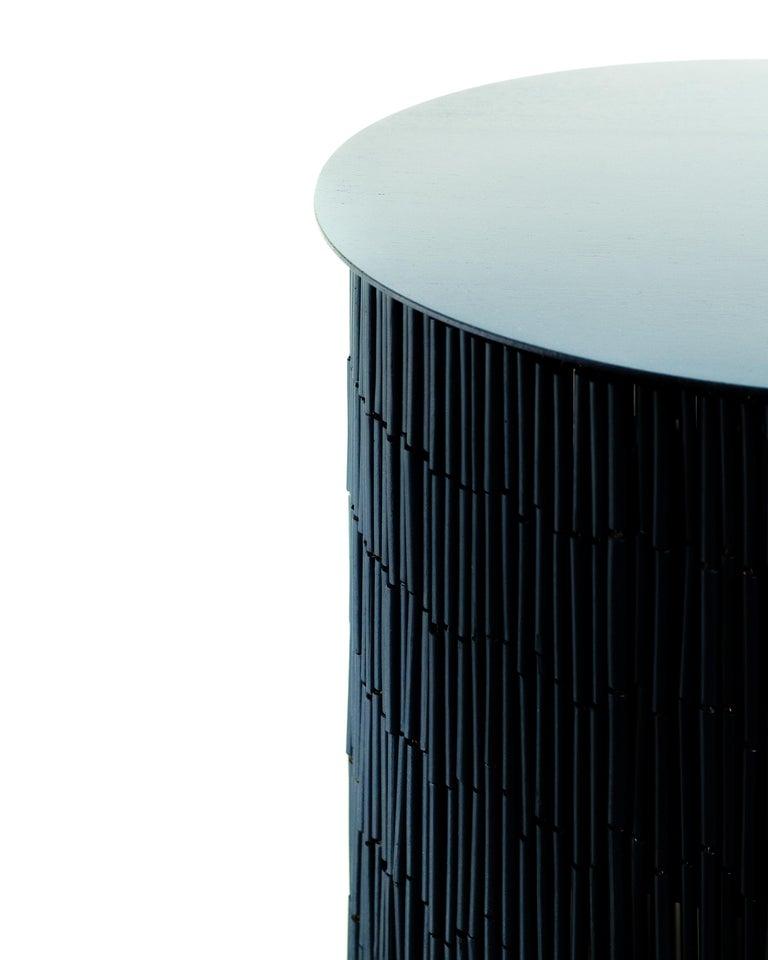 Steel Keefer Credenza, Calen Knauf, Black Bamboo Beaded Console Table Oak - 40