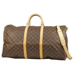 Louis Vuitton Keepall  bandouliere 60  unisex  Boston bag M41412