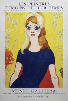 Brigitte Bardot : Blond Woman with Tall Eyes - Original lithograph, Mourlot 1964