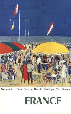"""Kees van Dongen-Normandie-Deauville, Le Bar du Soleil-39"""" x 24.5""""-Poster-1960"""