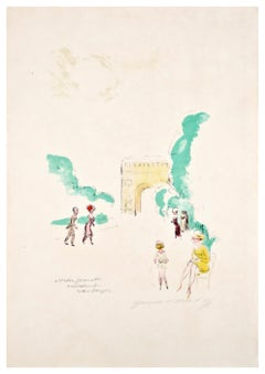 PRICE- Untitled - Original Lithograph by Kees Van Dongen - 1950s