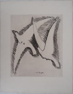 Sea Gulls - Original Etching - 1930