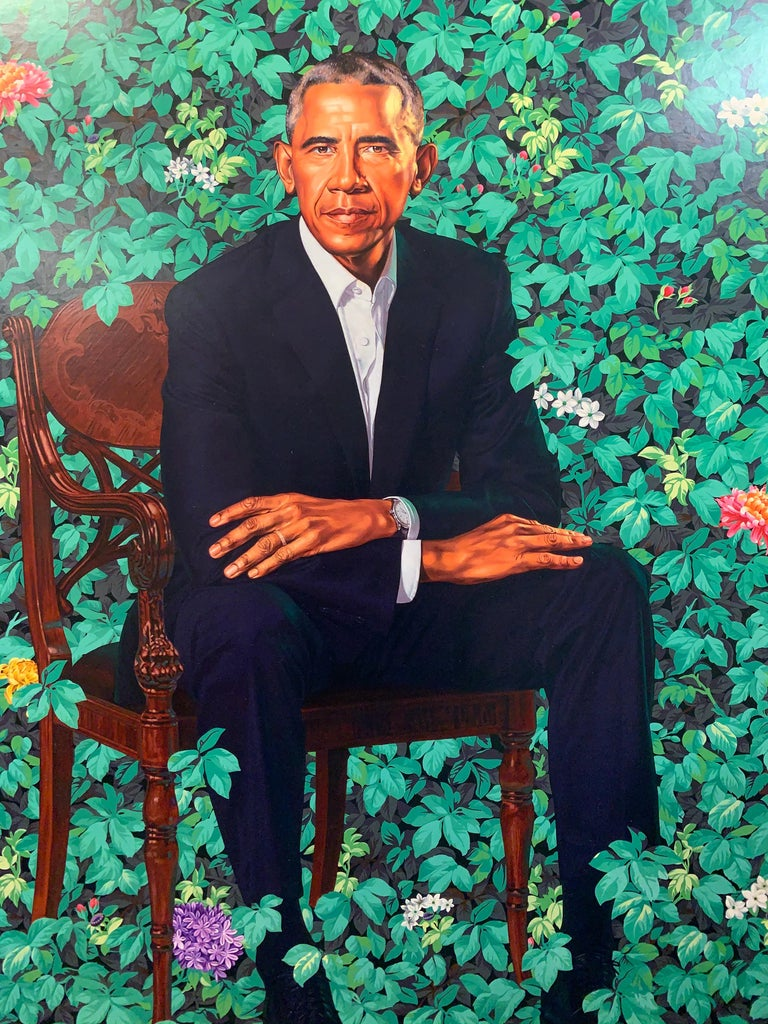 Barack Obama White House Portrait - Contemporary Print by Kehinde Wiley