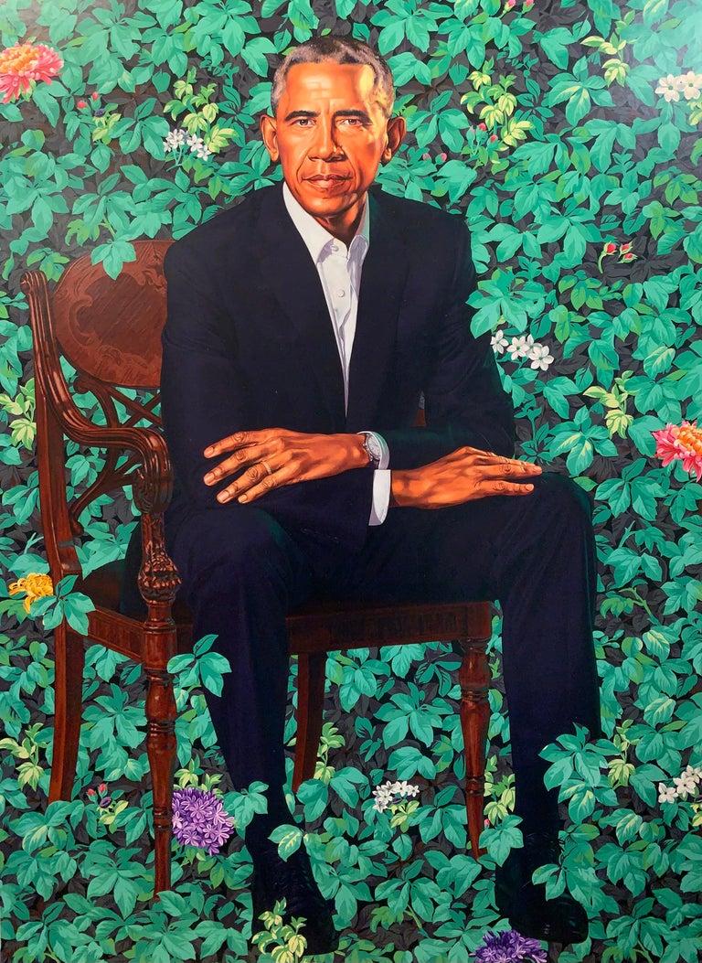 Kehinde Wiley Print - Barack Obama White House Portrait