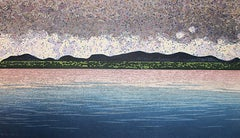 Allegro, Ukiyo-e landscape and sunset woodblock print, 2018