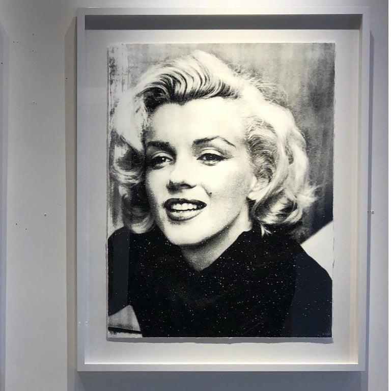 Marilyn Smile (Bleu, Diamond Dust) - Gray Black and White Photograph by Keiko Noah