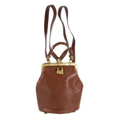 Keiselstein-Cord Brown Convertible Leather Bag