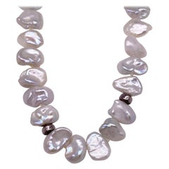 Keishi Pearl, Necklace, Organic Pearls w 90 Pearls