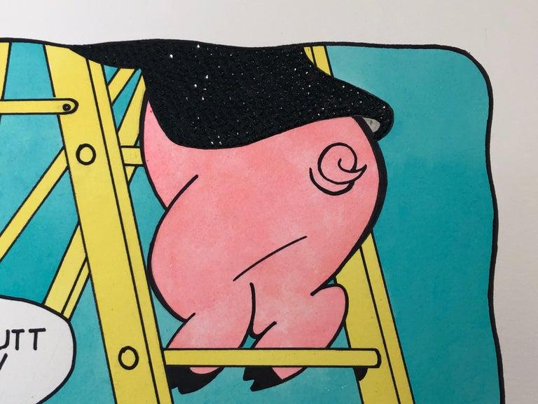 Nice Butt Doc - Pop Art Mixed Media Art by Keith Carrington