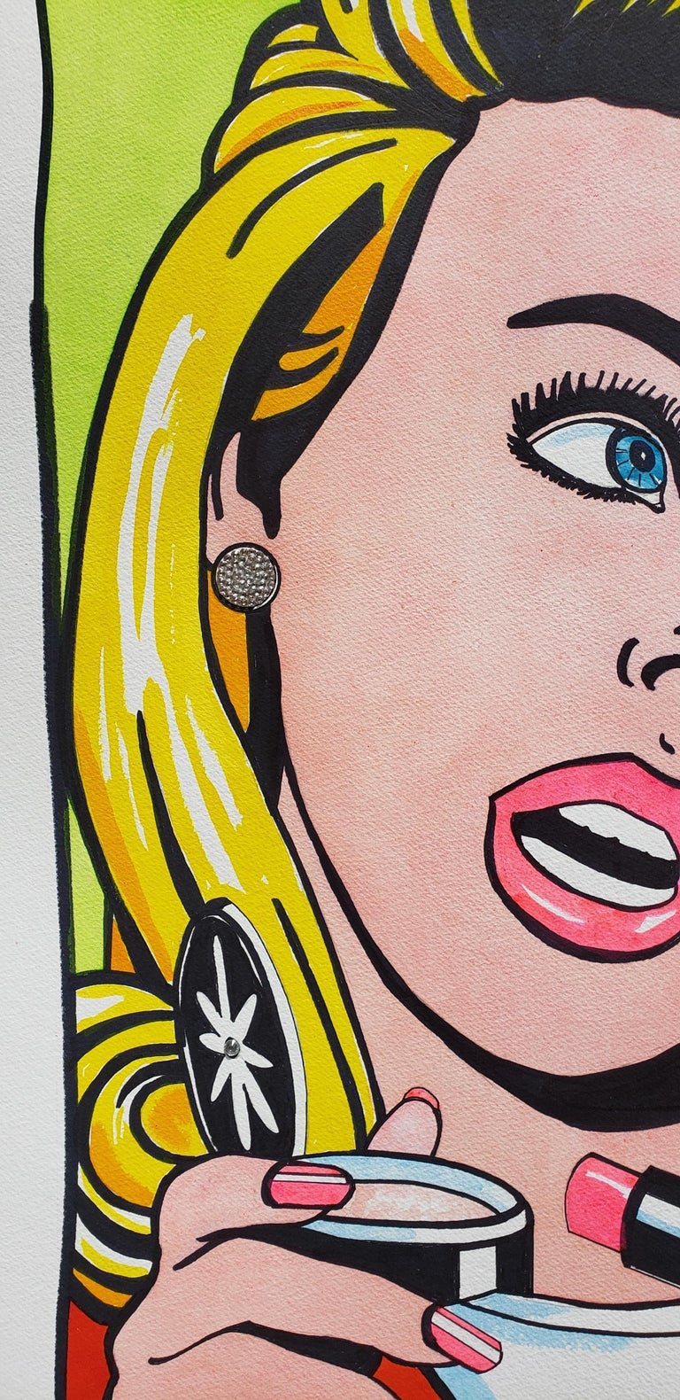 Vibe Higher Ink On Paper Pop Art For Sale 2