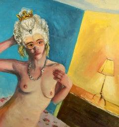 """""""Queenie,"""" Keith Hamilton, mixed media, contemporary art, nude"""