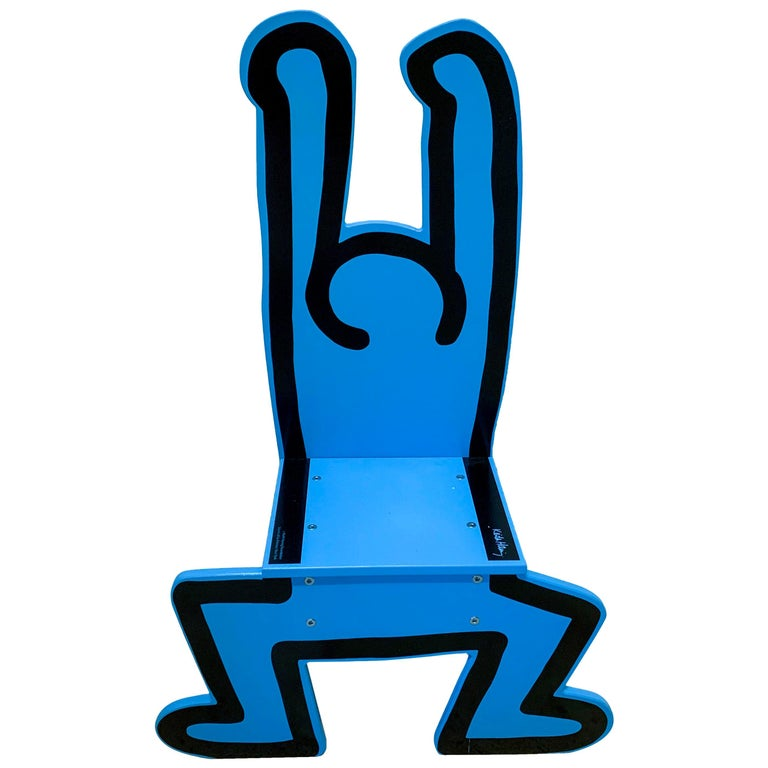 Keith Haring Child's Chaise Chair For Sale