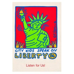 Keith Haring Citykids Foundation 1986 sticker 'Vintage Keith Haring'