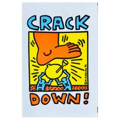 Keith Haring Crack Down! Program, 1986