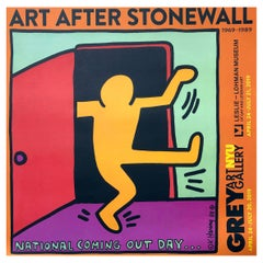 Keith Haring Exhibit Poster 'Keith Haring National Coming Out Day'