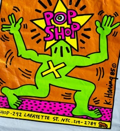 Original 1980s Keith Haring Pop Shop bag (Keith Haring pop shop New York)