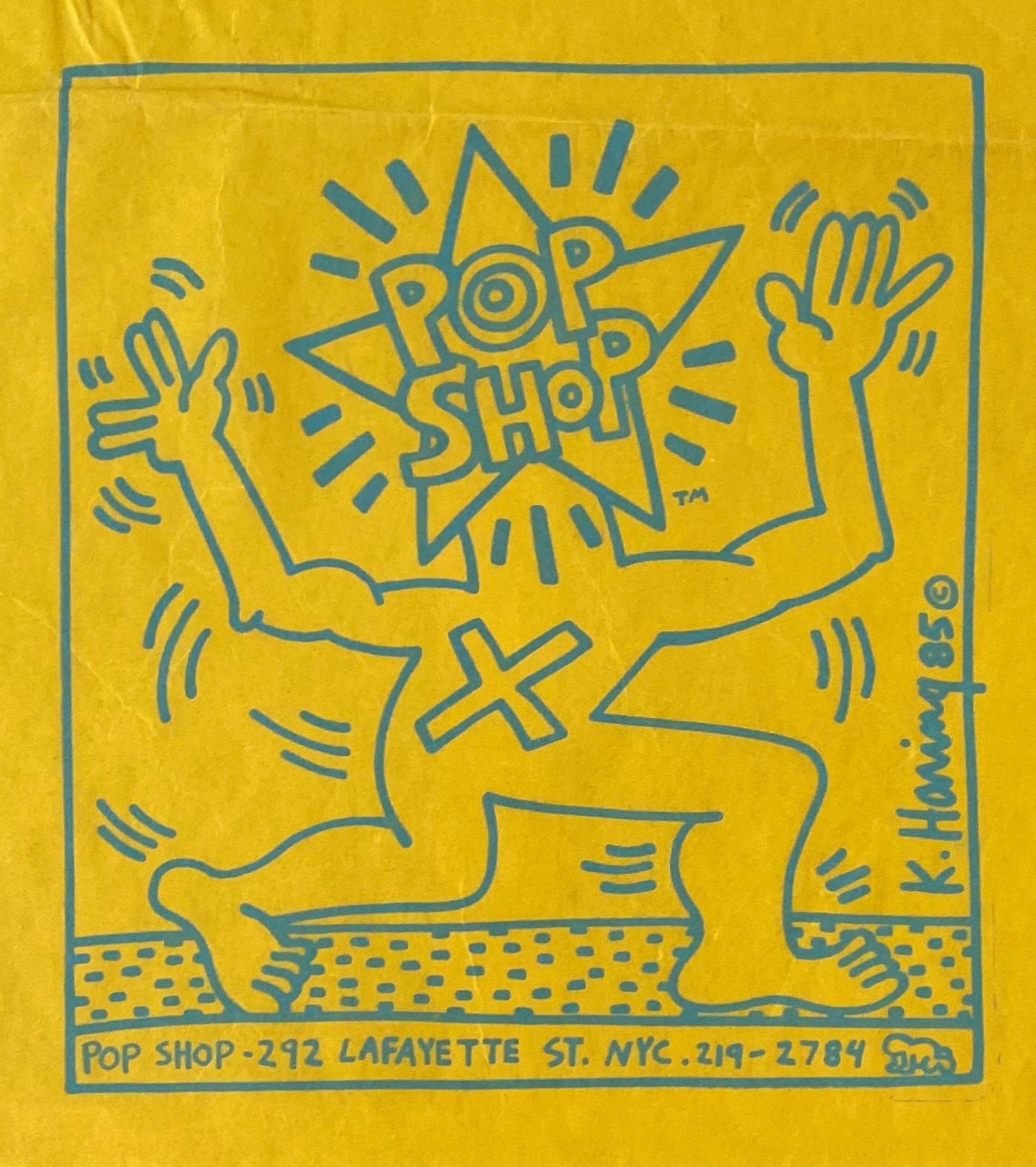 Original Keith Haring Pop Shop bag (Haring 1980s Pop Shop)