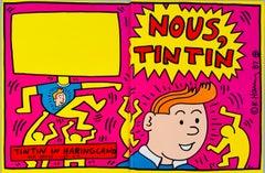 Rare original Keith Haring cover art