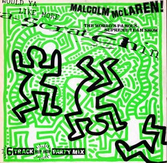 Keith Haring Vinyl Record Art