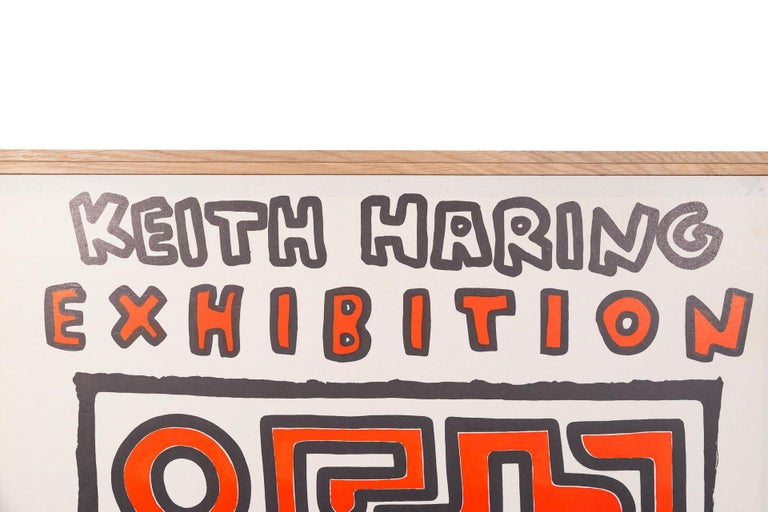 Keith Haring,  Original poster,  Paper, Italy, circa 1991.  Measures: Width 70, height 85 cm.