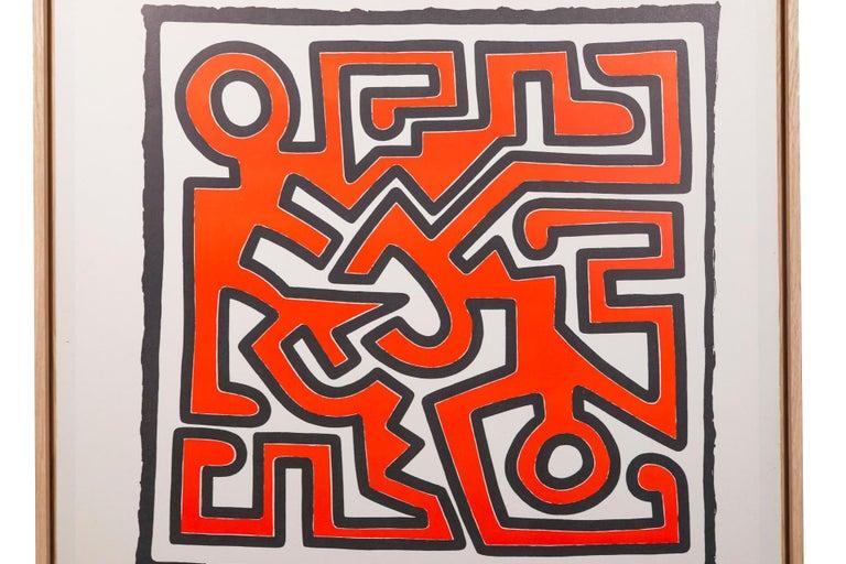 Italian Keith Haring, Original Poster, Italy, circa 1991 For Sale