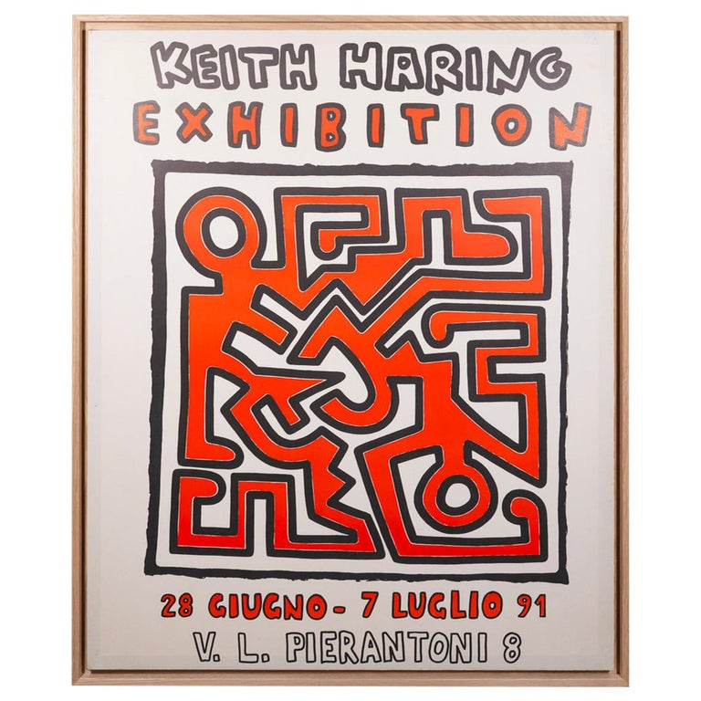 Keith Haring, Original Poster, Italy, circa 1991 For Sale