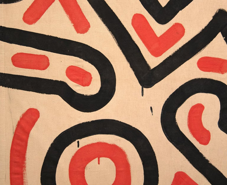 Untitled  - Pop Art Painting by Keith Haring