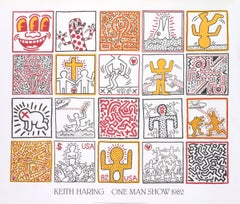 1986 Keith Haring 'One Man Show' Pop Art Offset Lithograph