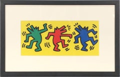 1998 Keith Haring 'Dance' Pop Art Yellow,Green,Red,Blue France Offset Lithograph