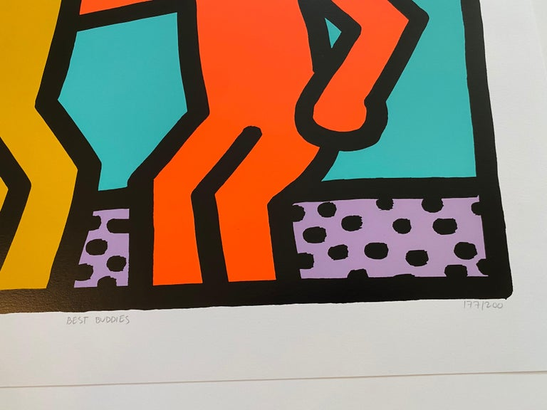 Best Buddies  - Print by Keith Haring